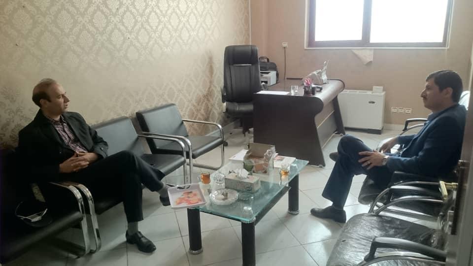 حضور رئیس شورای هماهنگی شرکت های بیمه ای استان در دفتر شهاب زنجان