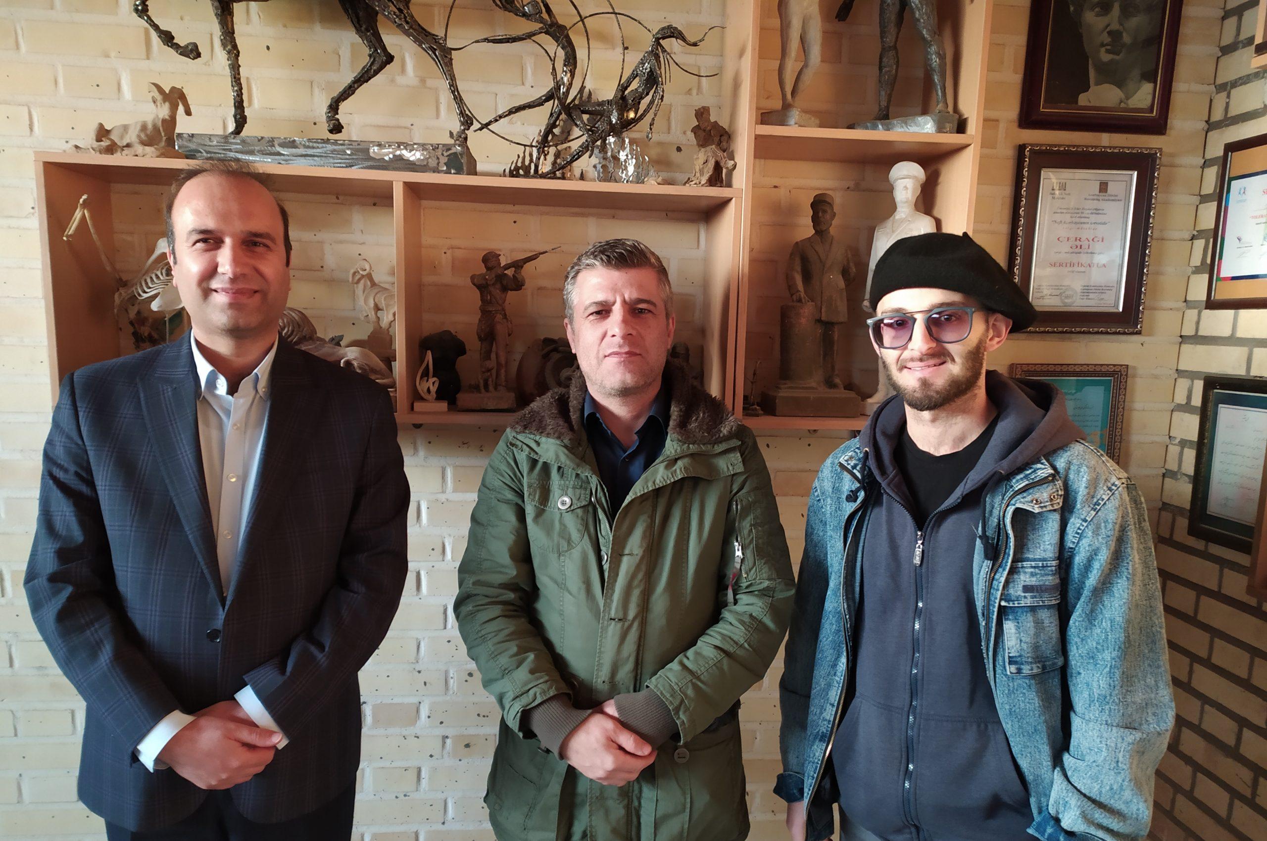 گزارش تصویری /بازدید صاحب امتیاز و تحریریه«شهاب زنجان» از یک کارگاه مجسمه سازی